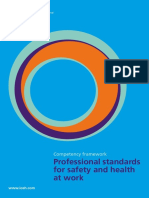 Professonal standards for safety and health at work