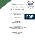 Trabajo Escrito de Lab. de Fontaneria-manometro