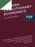 Modern Evolutionary Economics. An overview