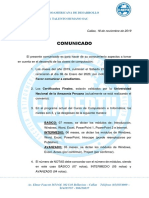 COMUNICADO1 - ELADEPTH