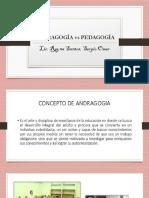 Andragogía vs Pedagogía