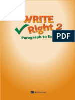 Write Right-Paragraph to Essay 2 TG