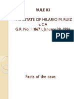 RULE 83 - The Estate of Hilario Ruiz v. CA