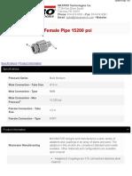 15A9M8P-AdapterFemalePipe15200psi