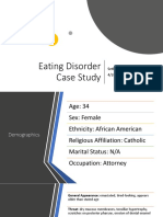 Eating Disorders Case Study