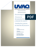 Documentación Técnica, Manual de Usuario y Puesta en Marcha.