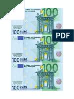 100 Euros - Imprimir e Visualizar