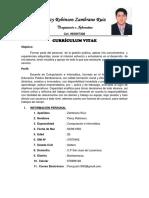 Curriculum 2019 Percy Zambrano Ruiz