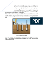 Construction Methods for Pile Foundations