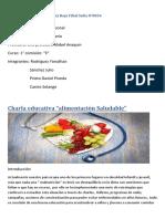 Informe de La Charla Alimentacion Saludable