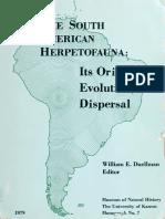 1979 the South American Herpetofauna