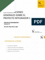 Consideraciones generales sobre el proyecto integrador 1