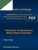 Psychiatric semiology