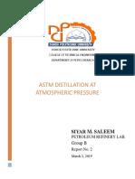 Petroleum Refinery Lab. Report No.3
