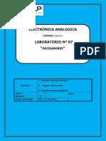 Laboratorio 7 - Osciladores Electronica