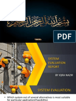 Iqra Nazir System Evaluation