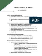 Anteproyecto Ley de Montes de Cantabria