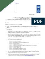 Proposal Change management Amendment