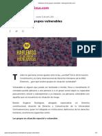 Hablemos de Los Grupos Vulnerables – ManaguaFuriosa.com