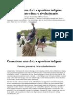 Comunismo Anarchico e Questione Indigena. Passato, Presente e Futuro Rivoluzionario