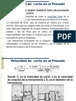 Fresadora- Vc, Va, n, Tiempo