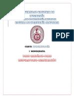 Primera Monografia Epidemiologia
