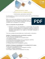 Presentación Del Curso Metodología de La Investigación