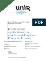Aprendizaje Significativo del Ingles en educación Primaria