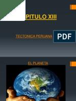 CAP. XIII.- Tectonica Peruana.