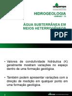 Água subterrânea em meios heterrogêneos