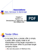 SLIDES (Week 13) Introduction to Takeovers and the Williams Act