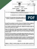 Decreto 867 Del 07 de Mayo de 2014