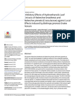 Inhibitory Effects of Hydroethanolic Leaf