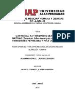 CAPACIDAD ANTIOXIDANTE DE PAPAS NATIVAS (Solanum tuberosum ssp. andígena), VARIEDADES PERUANITA Y PIÑA COLORADA
