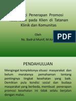 Strategi  Penerapan  Promosi  Kesehatan  pada  Klien  d.pptx