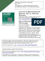 Journal of Macromolecular Science - Polymer Reviews
