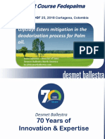 GE Mitigating in the Deodorization Process for Palm Oil FEDEPALMA