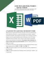 100 Atajos de Teclado Para Word y Excel Útiles