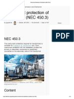 05 Overcurrent Protection of Transformer (NEC 450.3)