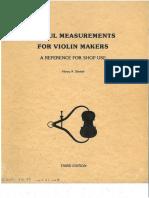 Useful Measurements for Violin Makers, H.strobel