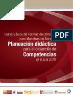 Planeación didáctica para el desarrollo de competencias en el aula