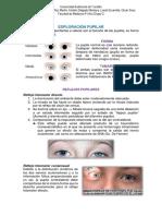 Exploración de la pupila (Melissa, Saúl + imagenes)