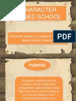 Character Based School
