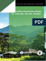 Inclusion Financiera Caso Del Sur Del Tolima BanRep Libro