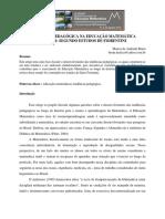 TENDÊNCIA PEDAGÓGICA NA EDUCAÇÃO MATEMÁTICA ESCOLAR SEGUNDO ESTUDOS DE FIORENTINI