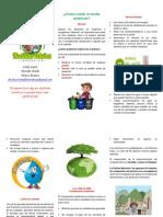 Folleto Campaña Educacion Ambiental