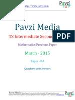 Ts Intermediate Second Year Mathematics Iia March - 2015
