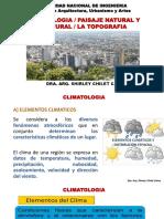 Climatolgía, paisaje natural y cultural, la topografía