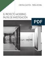 El Proyecto Moderno. Pautas de Investigación