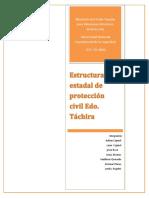 Estructura Organizativa de Proteccion Civil y Admistracion de Desastres